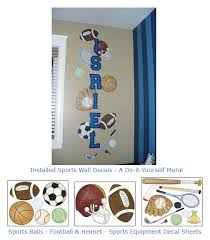 Sports Theme Wall Art For Baby Nurseries Kids Rooms Sports Wall Borders