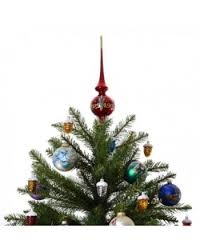 ariadne red glass tree topper