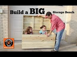 build a big outdoor storage bench by