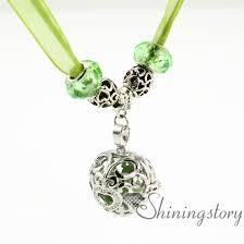 locket organza big whole charm bead