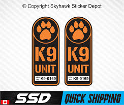 K9 Unit Badge Sticker Set Vinyl Decal Hunting Bomb Police Dog Paw Ebay