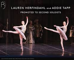 """Boston Ballet on Twitter: """"BREAKING NEWS: Lauren Herfindahl and Addie Tapp  have been promoted to second soloists. Read more >>  https://t.co/DgAeubfOEs… https://t.co/LihcGuCFKE"""""""