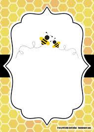 Free Printable Bumblebee Baby Shower Invitations Fiesta De La