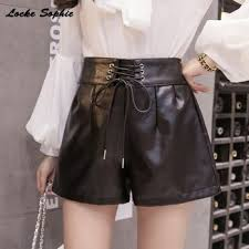 leather shorts 2017 autumn fashion