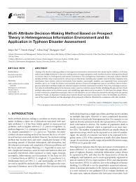 PDF) Multi-Attribute Decision-Making Method Based on Prospect Theory in  Heterogeneous Information Environment and Its Application in Typhoon  Disaster Assessment