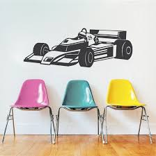 Race Car Wall Decal Kids Sports Car Stickers Trendy Wall Designs