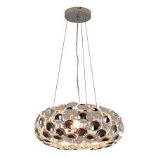 homcom modern pendant lamp chrome