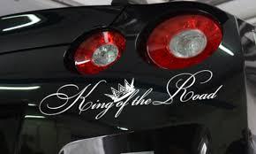 Buy King Of The Road Royal Fun Jdm Stance Japan Car Windshield Vinyl Sticker Decal