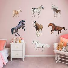 Horses Head Wall Sticker Horse Wall Decal Girls Bedroom Home Decor