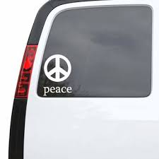 Best Peace Car Decals Products On Wanelo