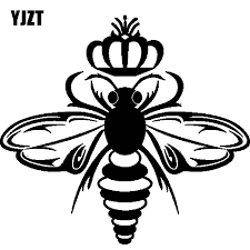 Yjzt 12 7cm 11 7cm Car Sticker One Cold Queen Bee Truck Vinyl Decal Black Silver C19 0053 Car Stickers Aliexpress