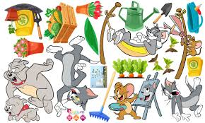 Decal Decal trang trí Tom and Jerry Số 1