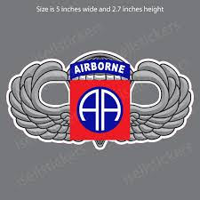 82nd Airborne Wings 3d Army Vinyl Bumper Sticker Window Decal