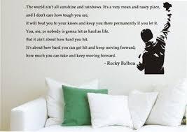 Wallartonline Rocky Balboa The Boxer The World Wall Art Quote Sticker Decal Black Extra Large Amazon Co Uk Kitche Wall Art Quotes Quote Stickers Rocky Balboa