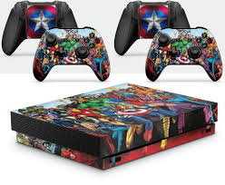 Gng Xbox One X Marvel Console Skin Decal Sticker 2 Controller Skins