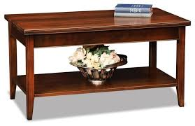 coffee table in chocolate cherry