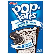 pop tarts cookies and cream frosted