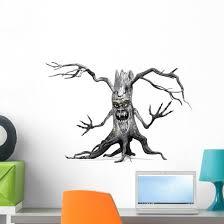Creepy Halloween Tree Wall Decal Wallmonkeys Com