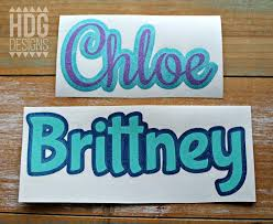 Name Decal Glitter Name Decal Glitter Word Decal Two Etsy
