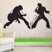 Elvis Presley Wall Decal Wallart Quote Vinyl Sticker Musical Studio Decal Bedroom Decoration A754 Wall Stickers Aliexpress