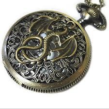 dragon pocket watch necklace charm