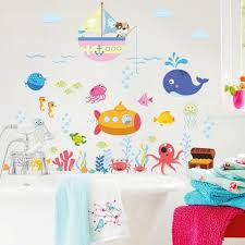 Underwater Animal Wall Sticker Fishes Wall Decal Sticker Sea Etsy