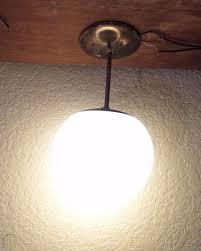 danish modern pendant light orb