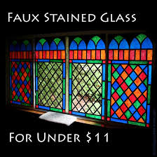 easy faux stained glass faux stained