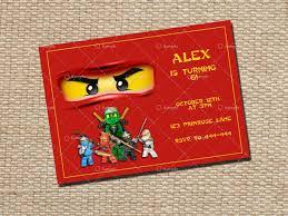 Ninjago Birthday Invitation Card Printable By Happycreationz