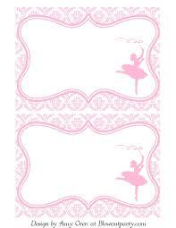 Ballerina Party Free Printable Invitation Feste Di Compleanno