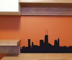 Chicago Skyline Vinyl Wall Decal Or Car Sticker Ss019ey Contemporary Wall Decals By Vinyl Disorder Inc