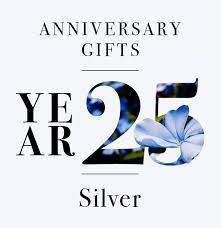 our guide to 25th anniversary gifts