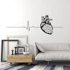 Vinyl Wall Decal Polygonal Heart Anatomy Health Medical Office Cardiog Wallstickers4you