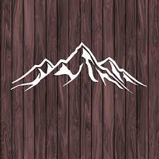 Custom Mountain Decal Mountain Vinyl Decal Mountain Sticker Etsy