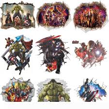 3d Wall Stickers Home Wall Decor Avengers Stickers For Kids Room Bedroom Decoration Marvel Poster Mural Wallpaper Wall Decals Wall Decals Design Wall Decals Designs From Huijuanstores 7 15 Dhgate Com