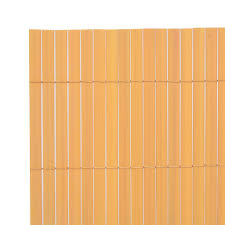 Double Sided Garden Fence Pvc 90x300 Cm Yellow