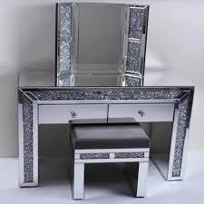 crushed crystal dressing table set