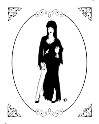 Elvira Mistress Of The Dark Silhouette Halloween Silhouettes Victorian Halloween Classic Monsters