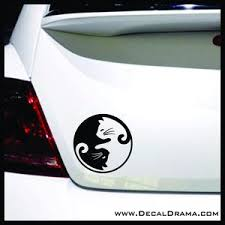Yin Yang Cats Vinyl Car Laptop Decal Decal Drama