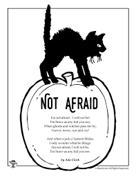 Not Afraid by Ada Clark   Halloween poems for kids, Halloween ...
