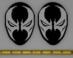 Spawn Face Mask Symbol Logo 2 Color Set Buy Online In Tanzania At Desertcart