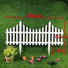 Amazon Com Chouchou Shelf 5pcs Plastic Garden Fence Easy Assemble White European Style Insert Ground Type Plastic Fences For Garden Countryyard Decor Color 70cm Furniture Decor