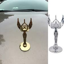 Car Stickers And Decals Goddess Of Liberty Front Bonnet Emblem Car Styling Universal Stand Hood Badge Decal Sticker Gold Silver Car Stickers Aliexpress