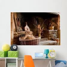 Rustic Fireplace Wall Decal Design 2 Wallmonkeys Com