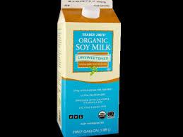 organic unsweetened soy milk nutrition
