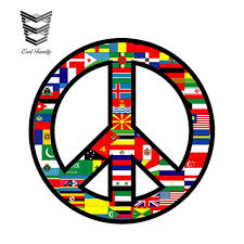 Earlfamily 13cm X 13cm Car Styling World Peace Sign Symbol Decal Car Sticker Glass Love Flags Country Bumper Windows Accessories Car Stickers Aliexpress