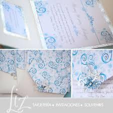 Fantasia De Invierno 15 Anos De Zurenny Invitaciones Pocketfold Blue Azul Invitations Cumpleanos Birth Invitaciones Disenos De Unas Cupcakes Frozen