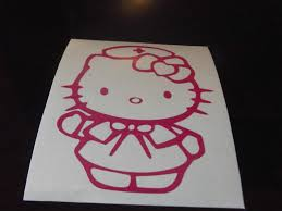 Sell Hello Kitty Logo Nurse Car Window Decal Sticker Pink Motorcycle In Dallas Georgia Us For Us 1 99