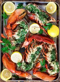 Grilled Lobster with Garlic Herb Butter ...