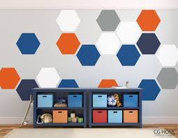 Pattern Hexagon Geometric Colors Honeycomb Wall Decal Vinyl At Home Sticker Wall Stickers Home Decor Wall Stickers Baby Boy Kids Room Decals
